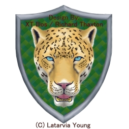 Commissioned Logo Design 2016 Digital 1296x1296 #FantasyArt #Jaguar #Shield #Illustration #Digital #DigitalArt. Original and prints are the property of the copyright owner, Latarvia Young.